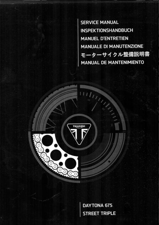 Werkstatthandbuch Daytona 675 / Street Triple 675